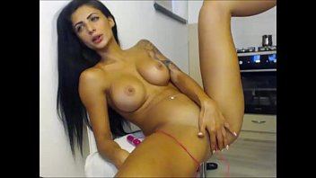 in masturbates crowd girl Horny blonde shows off for the cam