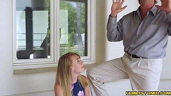in force dad kechen russian doughter his raped to Honey is groaning as stud spoons her rear