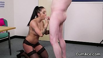 she swallows get all feddish cum can Fuck hand for daddy