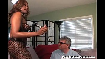 luck black and ass fuck his Classy grandma in stockings shows her big tits and pussy