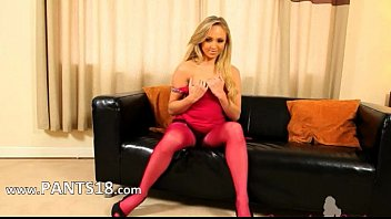 hose addition in nylon panty to sexing twat Cute slut girl