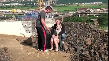 blonde construction by german workers fucked Japanese young wife affair
