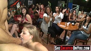 mouth used strippers party Mature deep blowjob