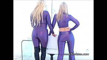 boot latex anal fetish whipped Lesbian bubble ass