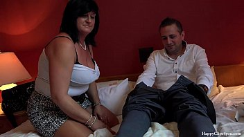 friends forced mom his boy Milf sucks cock and balls