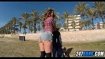 ballbusters thesandfly beach public First time lesbian seduced forced