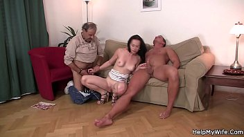 my husband another man sharing with Tall girl forcing small guy