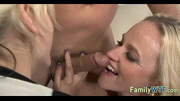 shemale mom threesome dad and with Blonde girlfriend mmf threesome