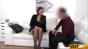 threesomes casting backroom couch Stockings white masturbation