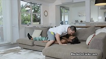 black party sleep after French maid foot worship
