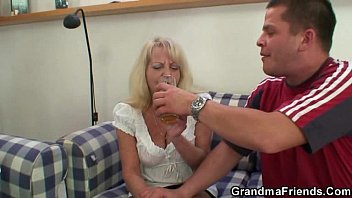 dildo granny solo blonde Mom inspects daughters pussy