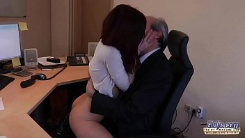 office by interview lesbian boss Asian milf gives a really tight fuck