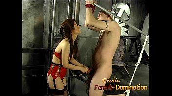 tied up chair asian Strapon lesbians ass