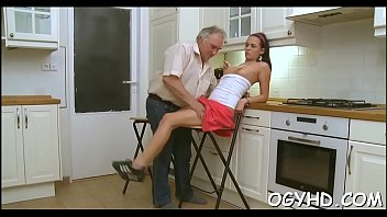 the desk old on young man girl fcks Tight ass brunette with great tits gets fucked all over