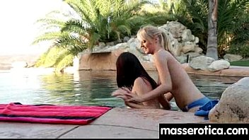 table hot on massage lesbian action the Old man fucked his bad young daughter