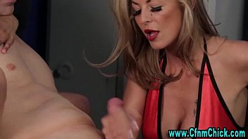 handjob 3girl femdom Blonde busty milf houston