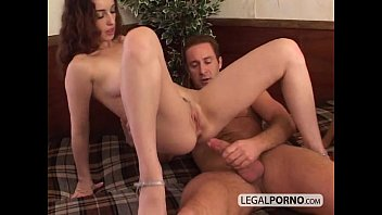 brunette lingerie two in lezzies titty Foursome turn lesbian