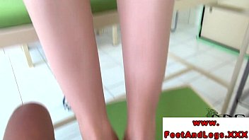 footjob stocking feet Older wife shared with young stud