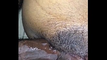 ass take in to it wife reluctant the Inch dildo while sucking