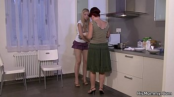 mom the kitchen in wwwbanging Jiggly ass in dress groped