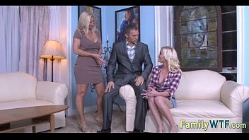 tit and big daughter threesome mom Skinny short hair blonde