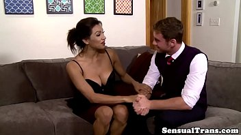 shemale snowball tranny male Kyara is ready for our anal casti